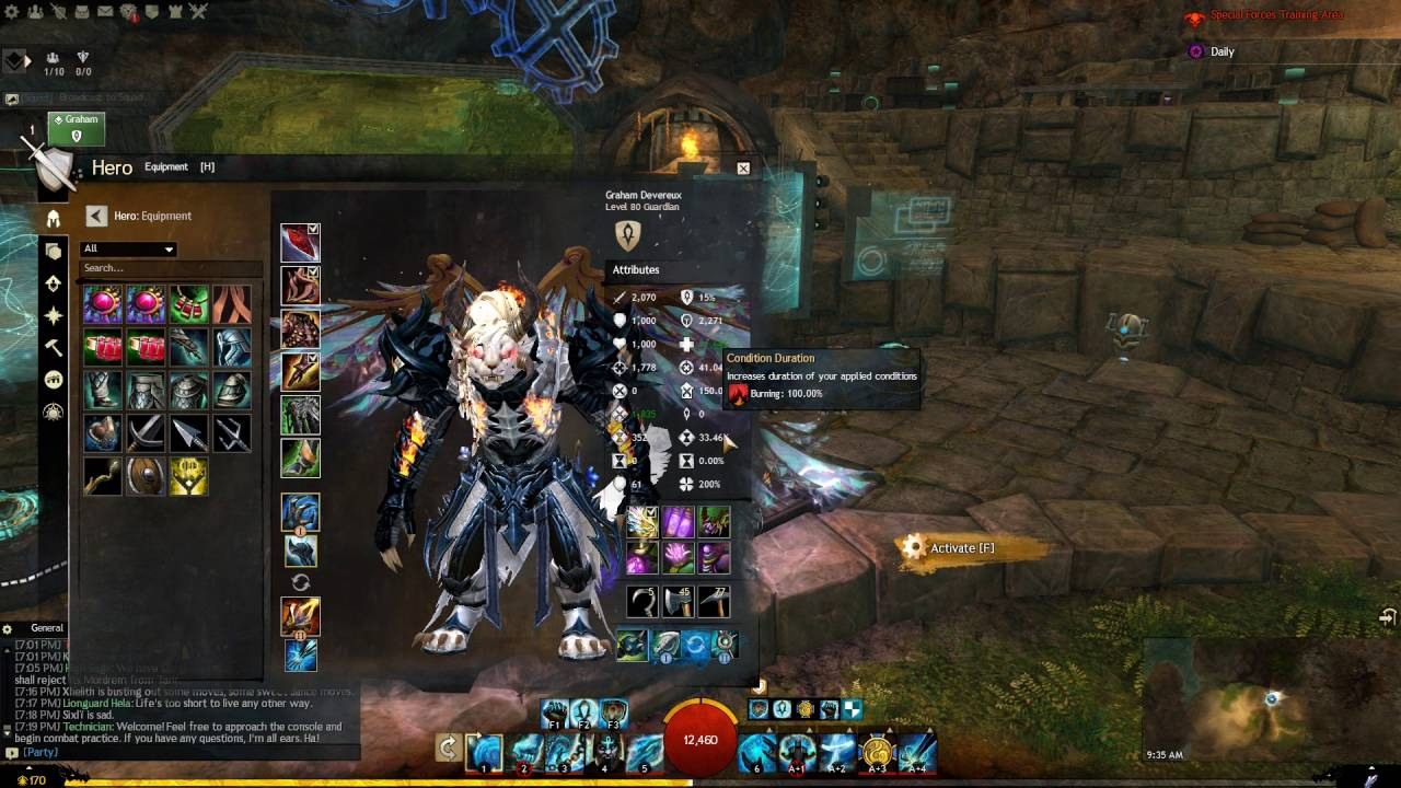Guild Wars 2 - Guardian Burn Build test