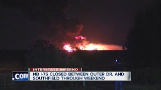 Freeway inferno shuts down I-75 Downriver