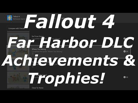 Fallout 4 Far Harbor DLC Achievements / Trophies! (Fallout 4 DLC News)