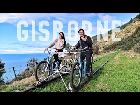 Railbike adventure & feeding wild stingrays GISBORNE, New Zealand | NORTH ISLAND NZ TRAVEL VLOG 4/5