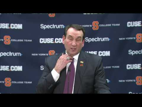 Mike Krzyzewski vs Syracuse Post Game