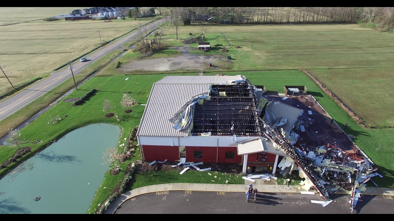 DJI Phantom 3 Advanced - Real Life Church tornado damage ...