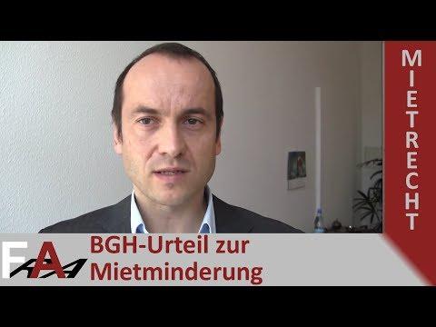 BGH-Urteil Zur Mietminderung I Rechtsanwalt Mietrecht Berlin