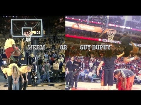 Who Dunked it Better? Werm or Guy Dupuy? Between the Legs over Human Props!
