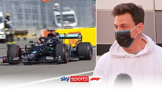 Toto Wolff on Hamilton time penalties and Bottas victory! | Russian Grand Prix
