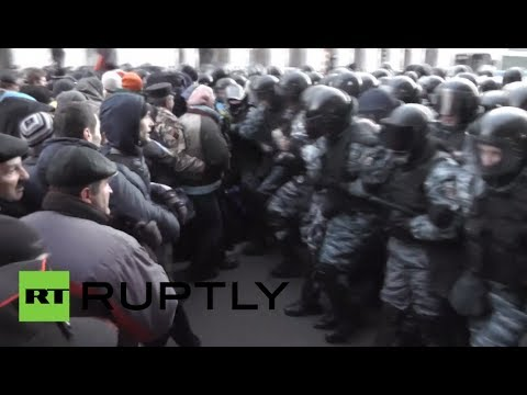 Ukraine on Edge: Fresh clashes erupt near parliament in Kiev