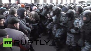 Ukraine On Edge: Fresh Clashes Erupt Near Parliament In Kiev