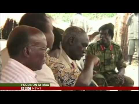 BBC News   LRA commander Dominic Ongwen arrives at Hague court