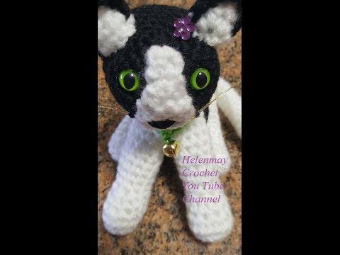 AmiCats Tuxedo Cat amigurumi crochet pattern | Vzory na pletení ... | 360x480