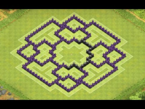 Clash of clans base builder 1 awesome town hall 5 base youtube apps