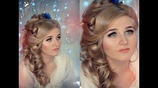 Невеста Ксюшенька Шикарная прическа на свадьбу Прическа и макияж Красивая невеста 2017