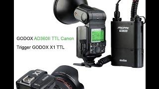 trigger godox x1 flash godox ad360ii ttl c