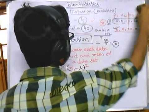 7. Biostatistics lecture - Dispersion and standard deviation formula