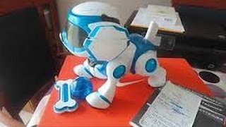 Overview of ROBOTIC DOG PUPPY TEKSTA BLUE TOP BOYS TOY FOR CHRISTMAS 2015