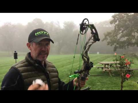 The Hoyt Pro DEFIANT  first look and first groups at 60 yards