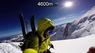 Mont Blanc en splitboard - Grand mulets Arête nord du dome et face Nord