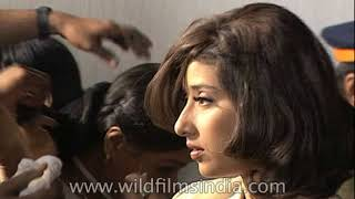 Manisha Koirala and Sanjay Dutt film for Khauff - rare behind the scenes footage