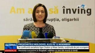 Alegeri prezidenţiale în Republica Moldova: Igor Dodon şi Maia Sandu se confruntă în turul 2
