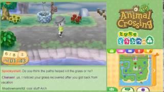 Animal Crossing New Leaf - (J3DS) Grass Deterioration