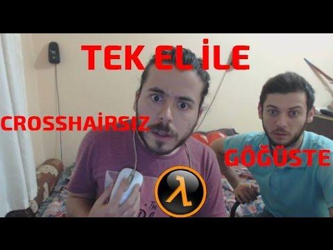 REKOR! Göğsümde Fare Tek El ile Crosshairsiz Half-Life Oynadım