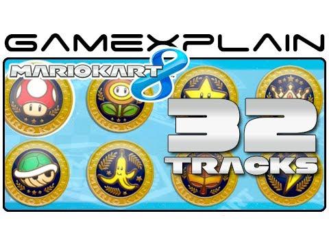 Mario Kart 8:  All 32 Tracks! (Full Race)