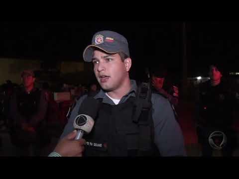 Policia Militar faz a segurança na virada do ano em Confresa