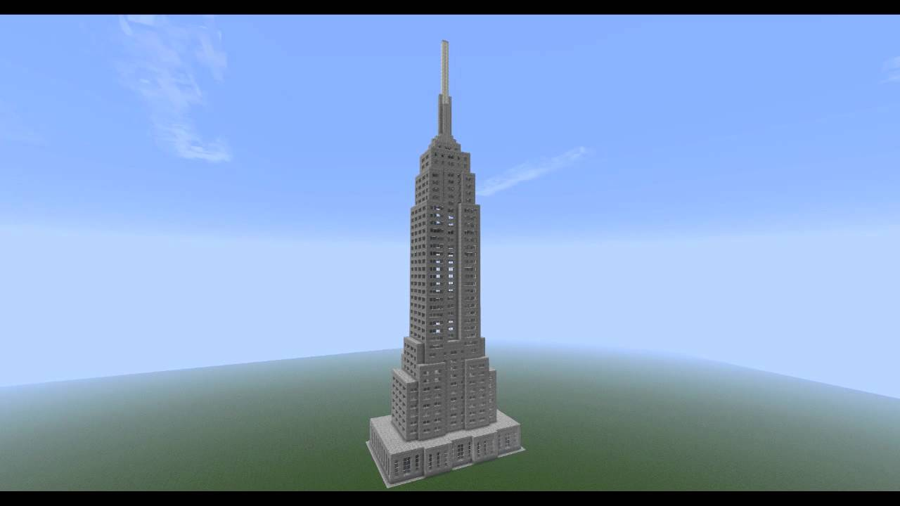 Minecraft Empire State Building [HD] - YouTube