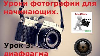 Уроки фотографии для начинающих. Урок 3: диафрагма