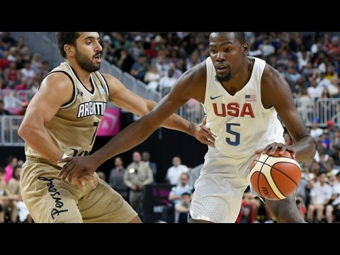 Argentina @ USA 2016 Olympic Basketball Exhibition FULL GAME