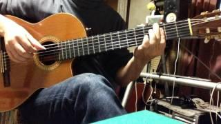ボサノヴァのギター伴奏の例 A.C. Jobim「Chega de Saudade」