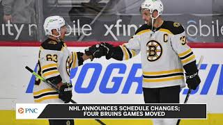 NHL Announces Changes To Bruins Schedule After Postponements