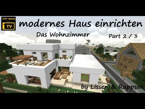 Minecraft let 39 s show map pt 3 modernes haus markt for Craftingpat modernes redstone haus