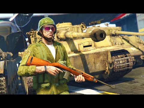 GTA 5 Real Life Military Mod - World War 2 Tanks, Planes & Weapons!! (GTA 5 Mods Gameplay)