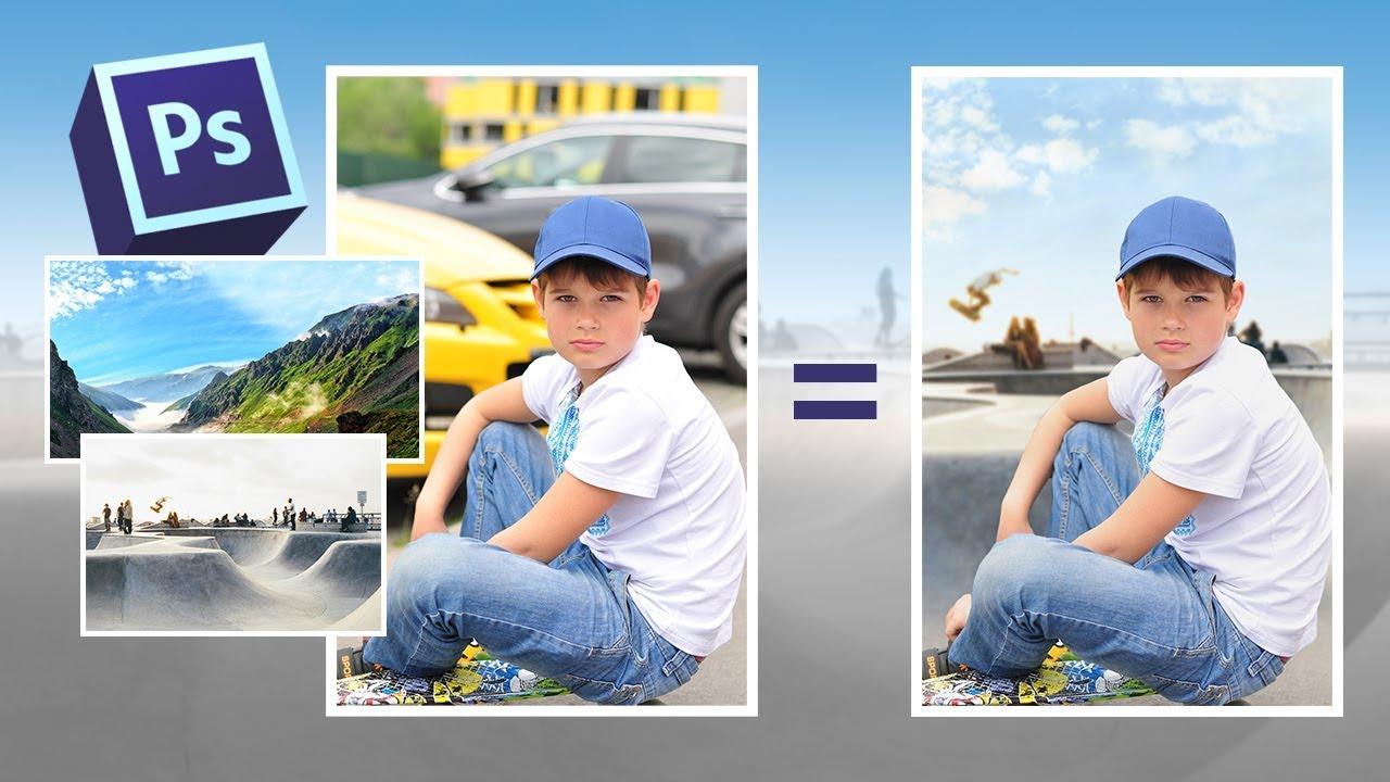 Как заменить фон на фотографии в фотошопе - YouTube
