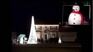Jingle Bell Rock to Christmas Lights with Animated Snowman