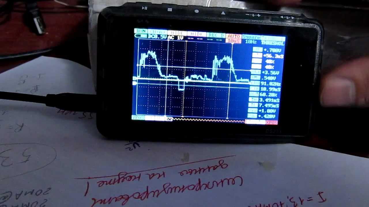 DSO203 Попытка захвата видеосигнала