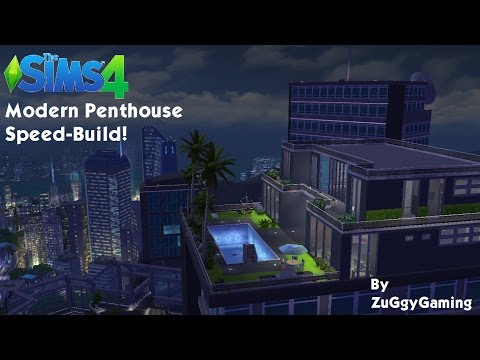Sims 4 - City Living-  SPEED BUILD-  Modern  Penthouse