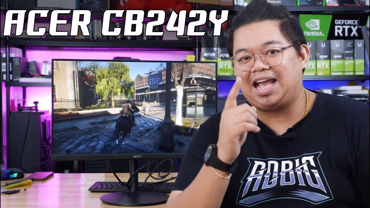 รีวิว ACER CB242Y จอ IPS 75Hz แค่ 2,XXX บาท 24 นิ้ว เล่นเกม ภาพแจ่ม ไร้ขอบ พอร์ตครบ HDMI/DP/VGA