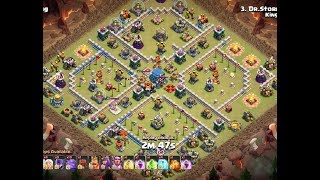 Clash of Clans - TH12 Healers Bowitch Strategy vs TH12 Base