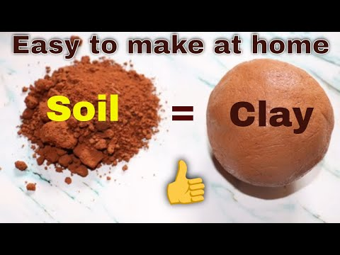 Clay from Soil || Easy clay making at home ||