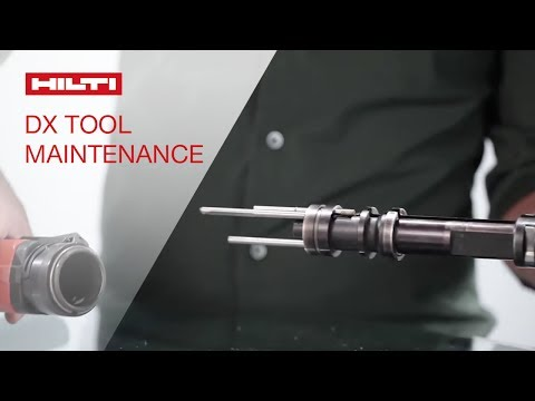 HOW TO properly maintain Hilti powder-actuated tools