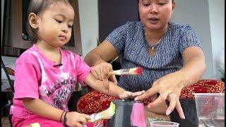 Balita Lucu Mewarnai Pot Bunga dan Menanam Lidah Buaya - Kids Learning Color and Painting