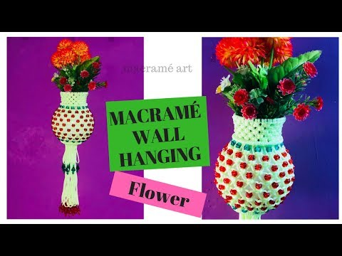 MACRAME WALL FLOWER HANGING DESIGN
