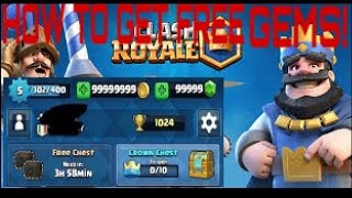 HOW TO GET FREE GEMS IS CLASH ROYAL!! (no Hacks Needed)