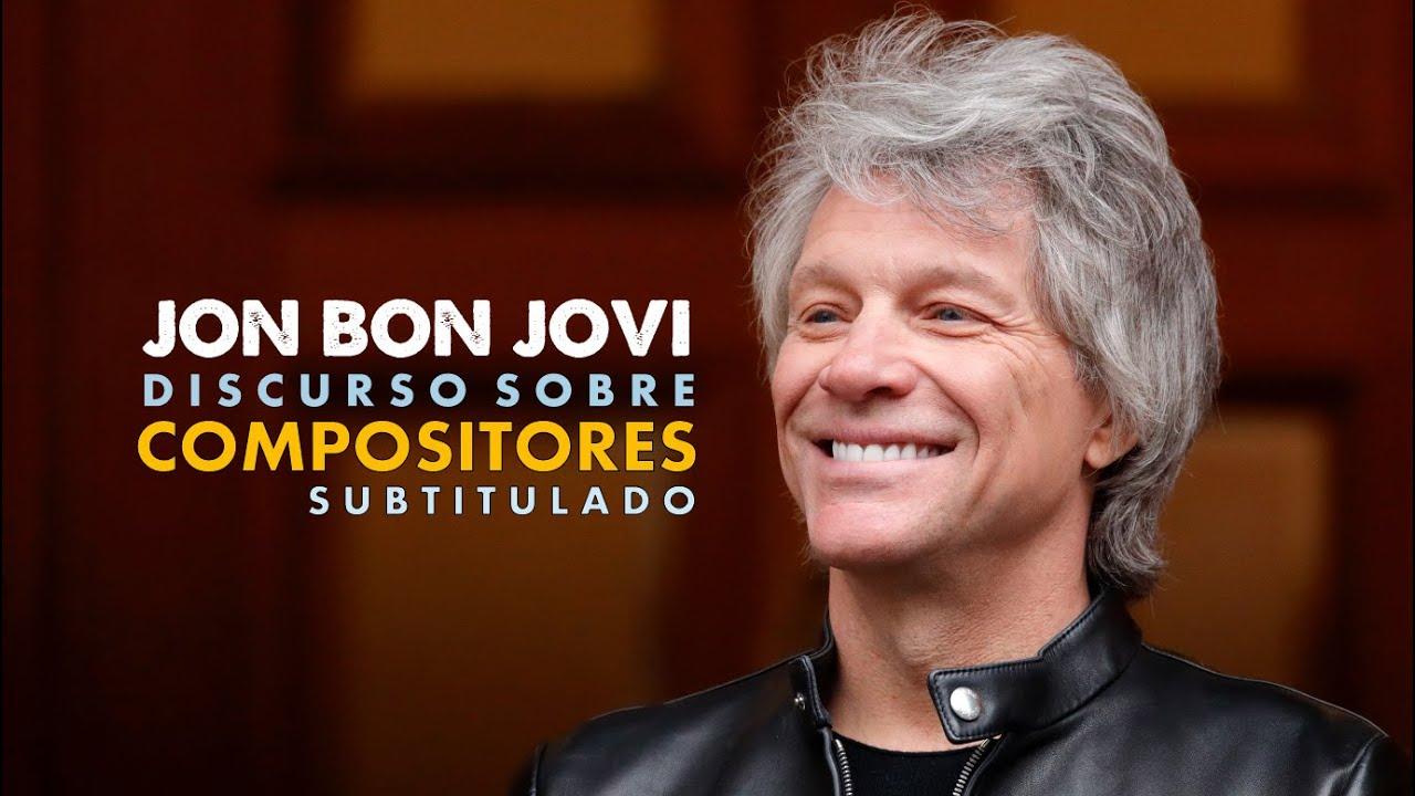 Jon Bon Jovi discurso sobre compositores (subtitulado)