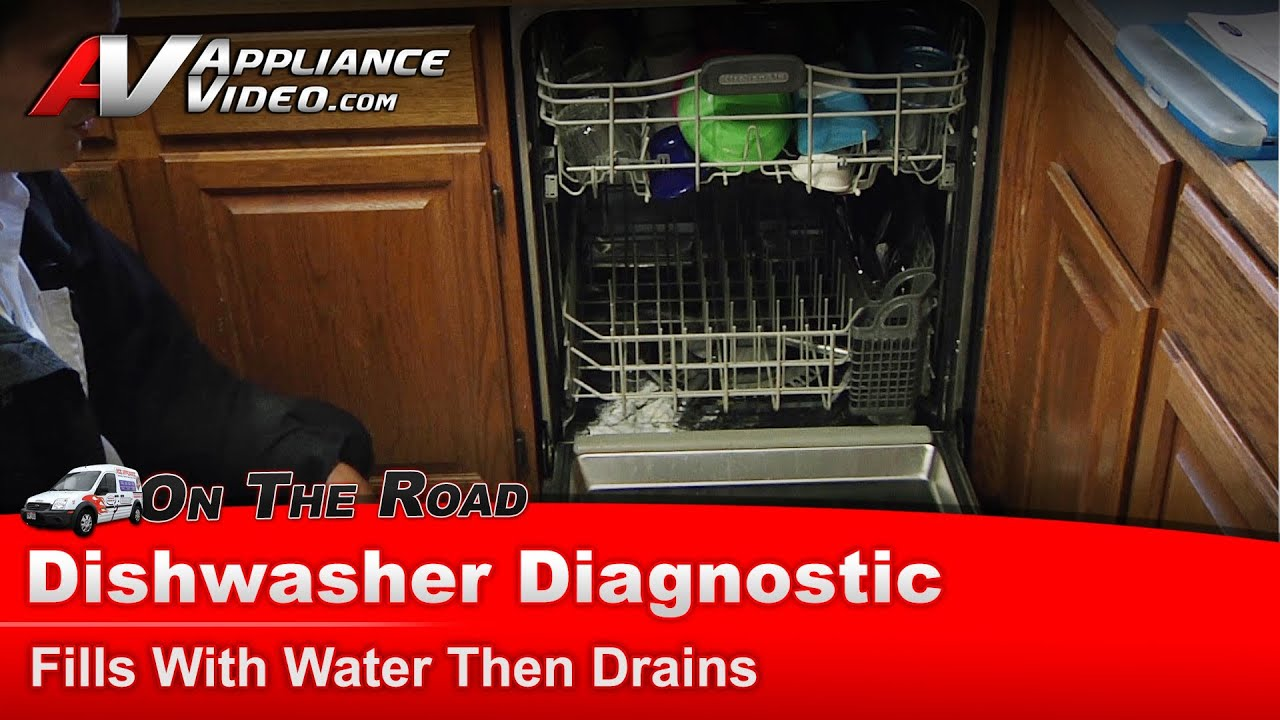 Whirlpool, Maytag & KitchenAid Dishwasher Diagnostic - Fills with water  then drains