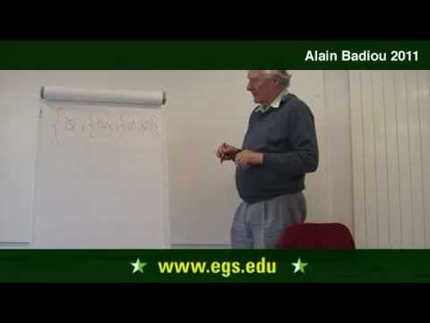 Alain Badiou. Infinity and Set Theory: How To Begin With The Void. 2011