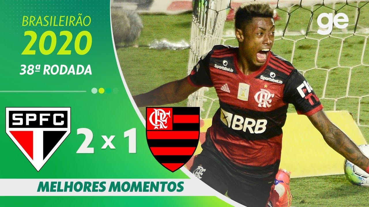 SÃO PAULO 2 X 1 FLAMENGO | MELHORES MOMENTOS | 38ªRODADA BRASILEIRÃO 2020 |ge.globo