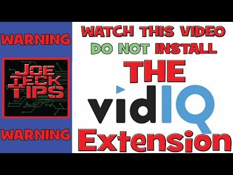 WARNING DO NOT INSTALL THE VidIQ Extension | TOS VIOLATION | JoeteckTips