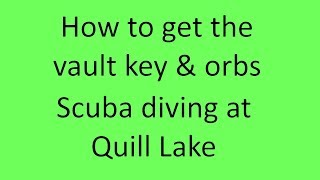 How to get the vault key & Orbs | Scuba diving at quill lake | ROBLOX | Ice Update